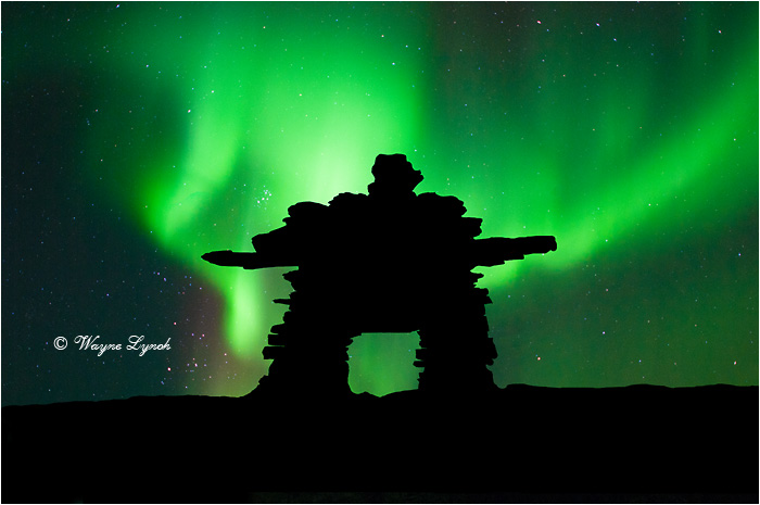 Inukshuk & Northern Lights by Dr. Wayne Lynch ©