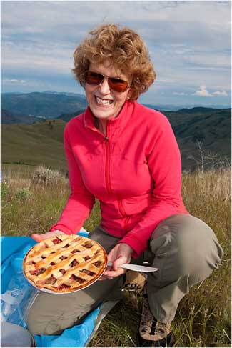 Rhubarb & Strawberry Pie, Okanagan Valley 2011